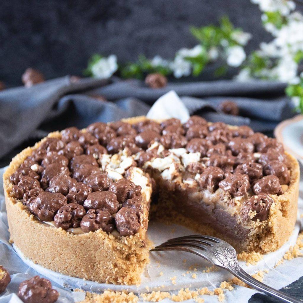 Recept: Jordnötspaj med Chokladpopcorn-1