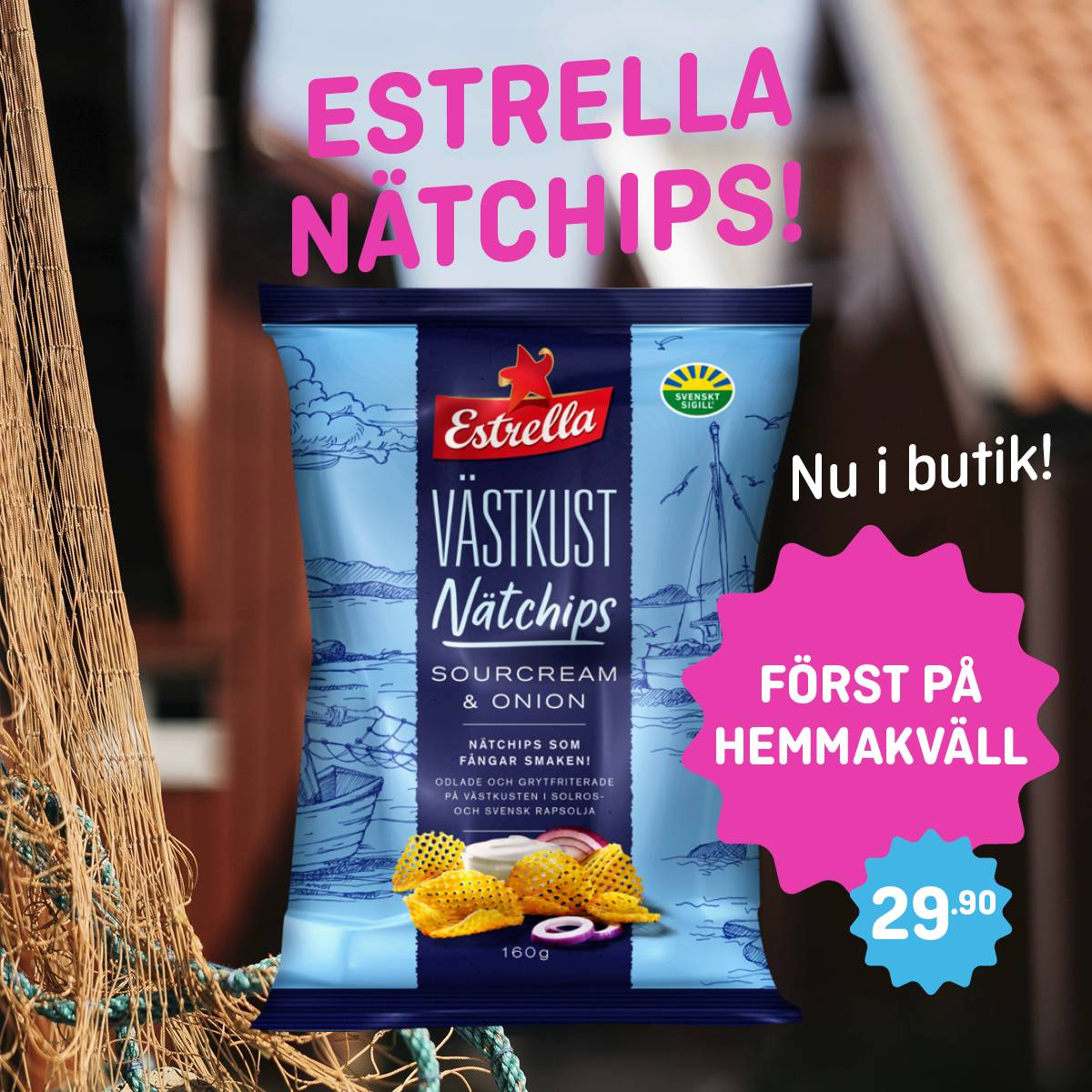 Estrella Nätchips Sourcreme & Onion