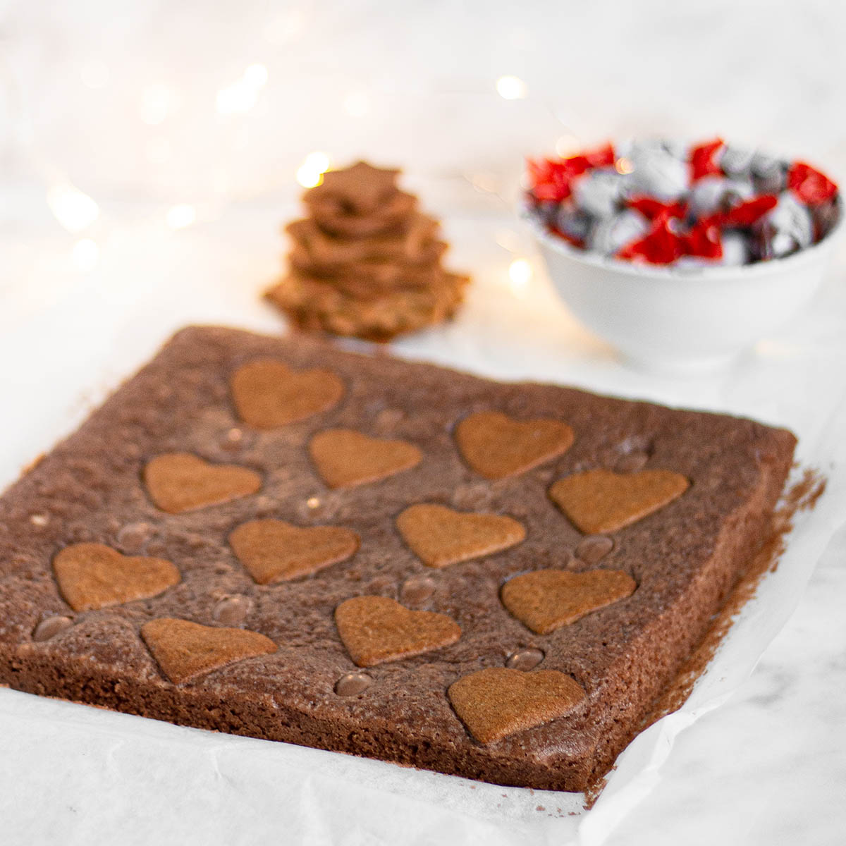 Recept: Pepparkaksbrownie med Kinder Schoko-Bon