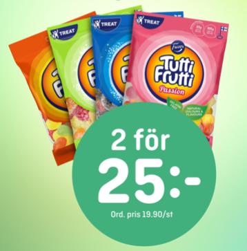 Tutti Frutti 2 för 25:-