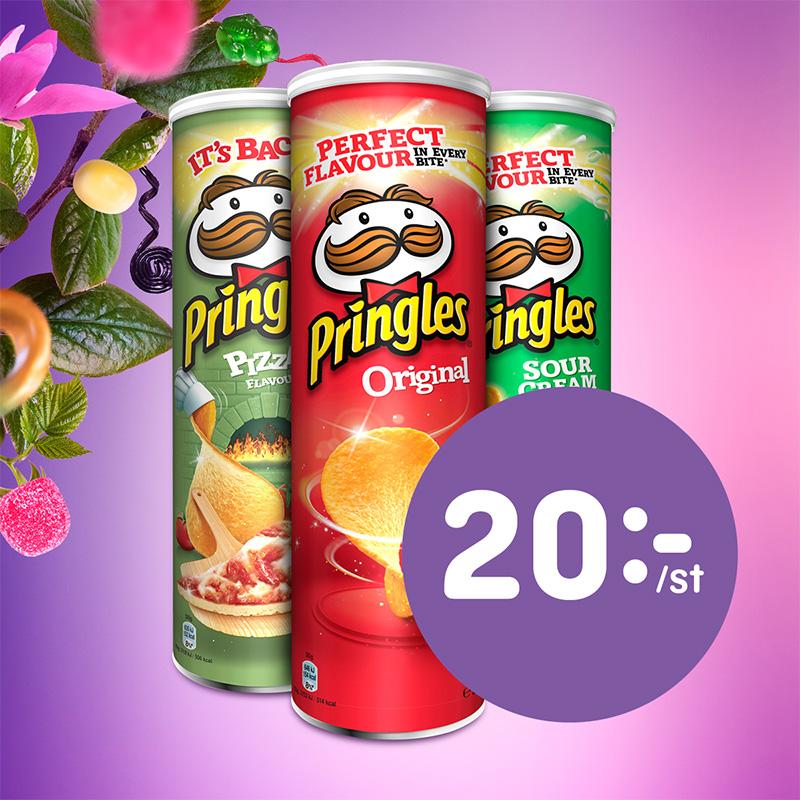 Valfri Pringles 20:-