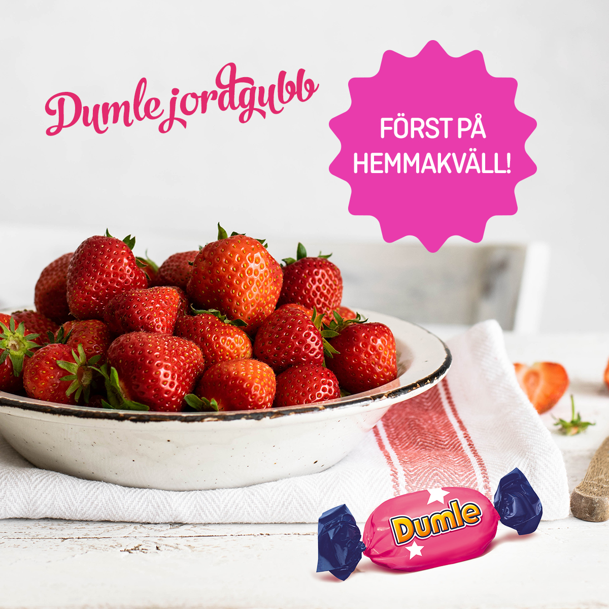 Dumle Smooth Strawberry i lösvikt 11/4