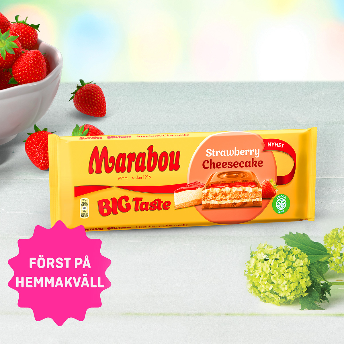Marabou Strawberry Cheescake 17/4