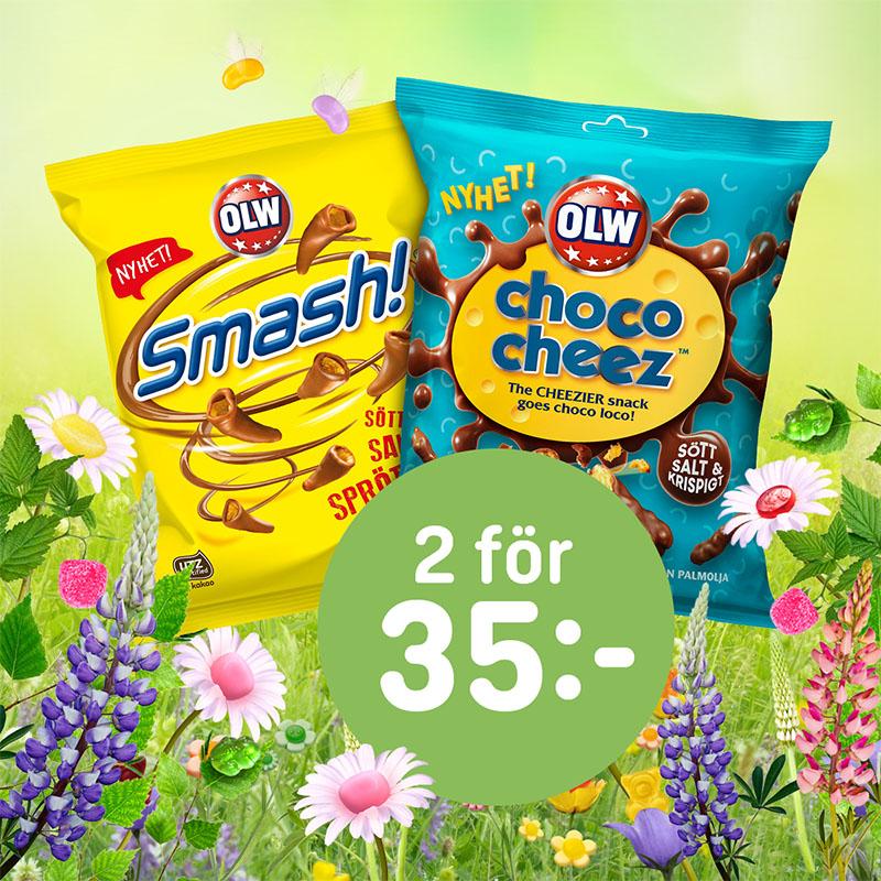 OLW Choco Cheez + Smash 2 för 35:-