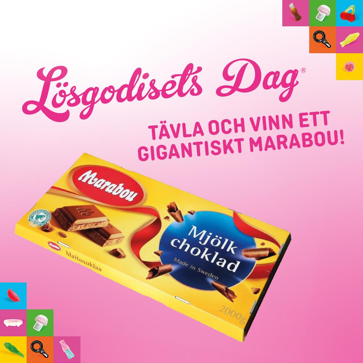Tävla i butik om gigantisk Marabou chokladkaka, en per butik.