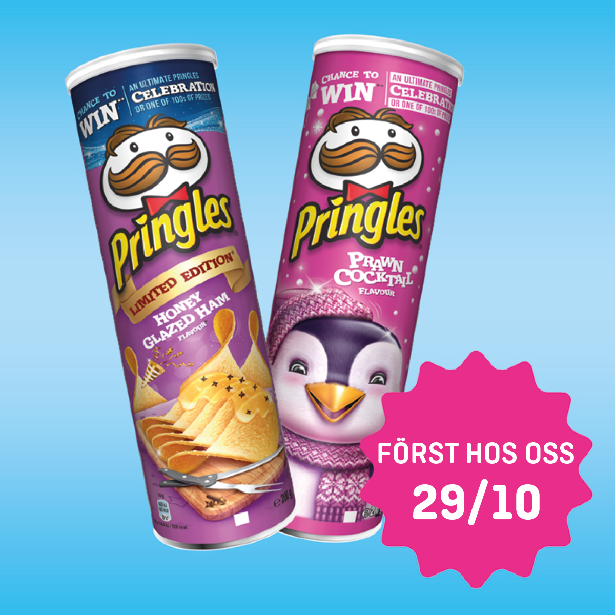 Pringles Honey Glazed Ham & Prawn Coctail 29/10
