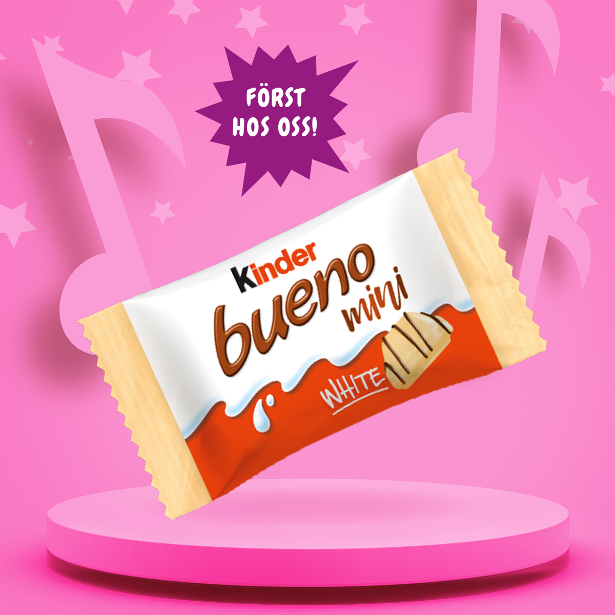 Kinder Bueno Mini White i lösvikten 17/2