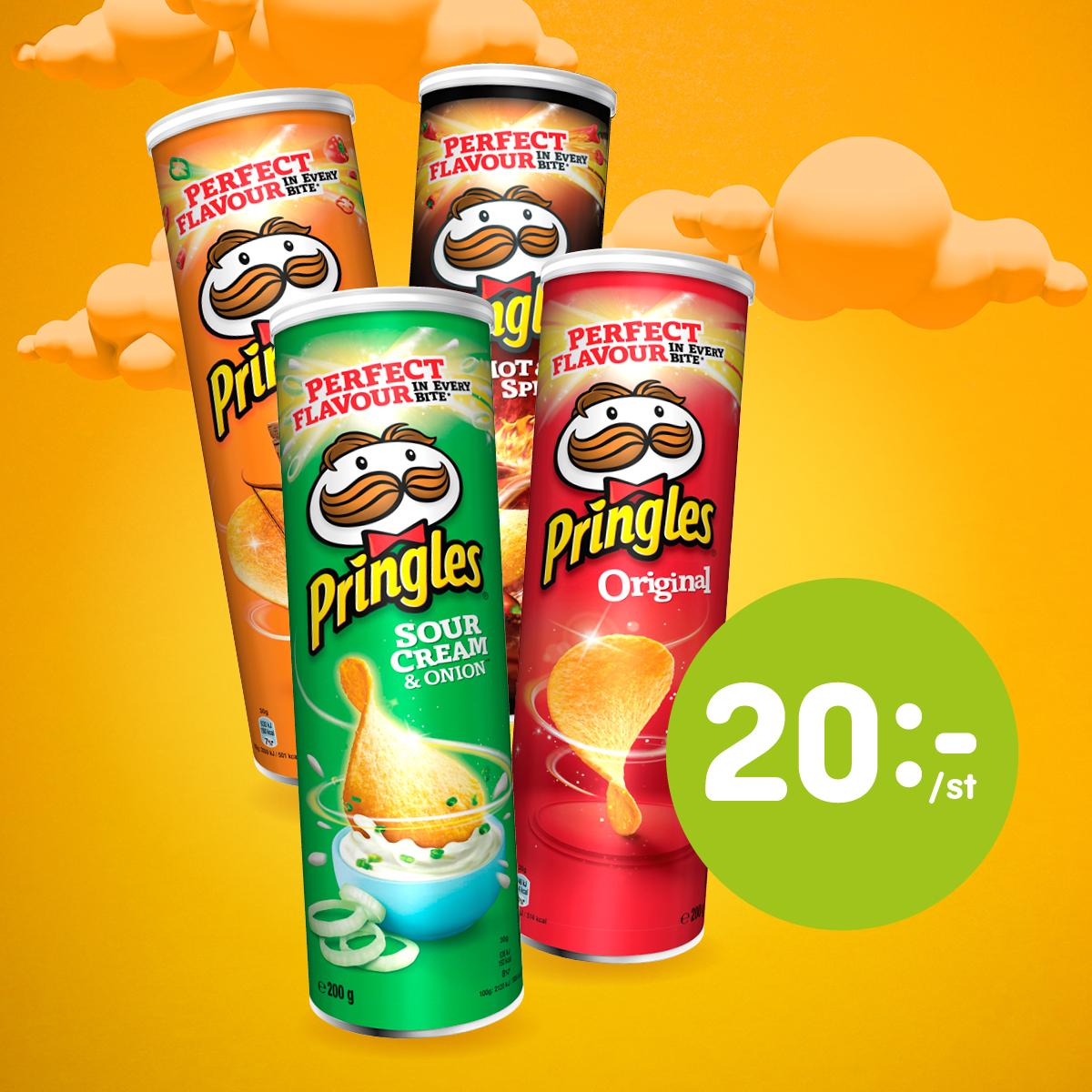 Pringles 200gr 20:- (ord.pris 34:90:-)