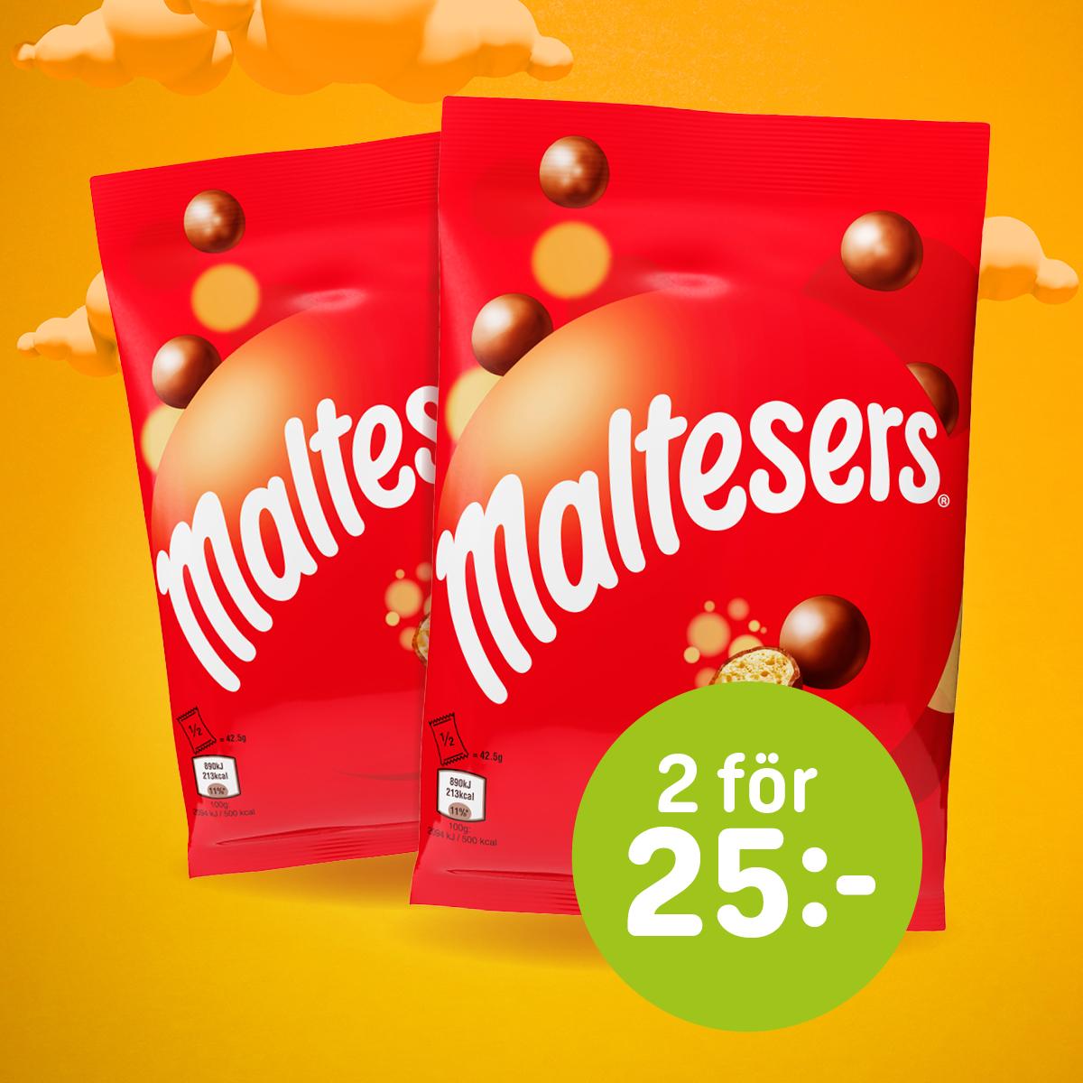 Maltesers (85 g) 2 för 25:- (ord.pris 16:90/st)