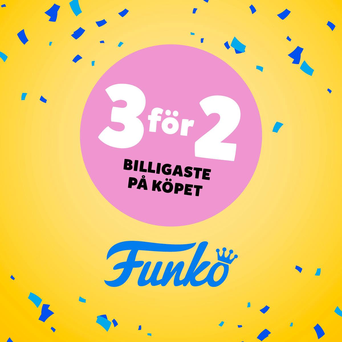 Köp 3 betala för 2 på hela Funko-sortimentet.