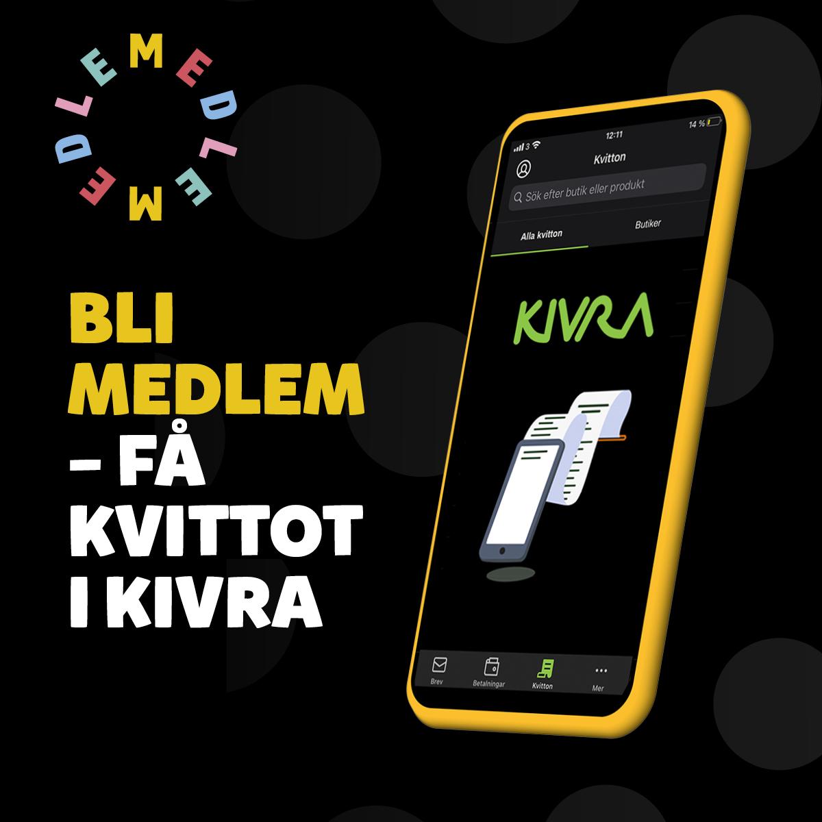 Nu kan du få kvittot i Kivra!