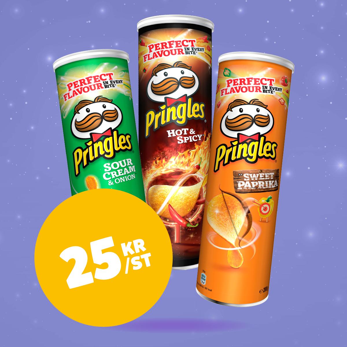 Pringles 15:- ord.pris 34.90:-
